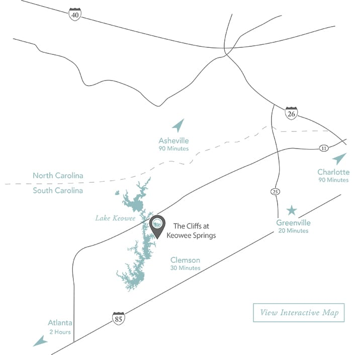 The Cliffs at Keowee Springs community maps