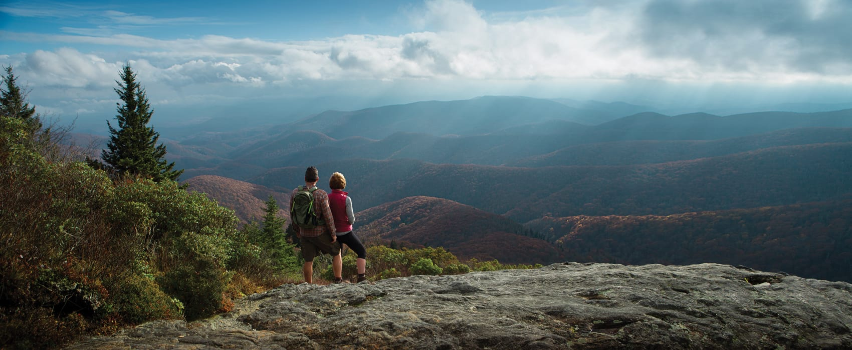 Looking Over Devil's Courthouse North Carolina