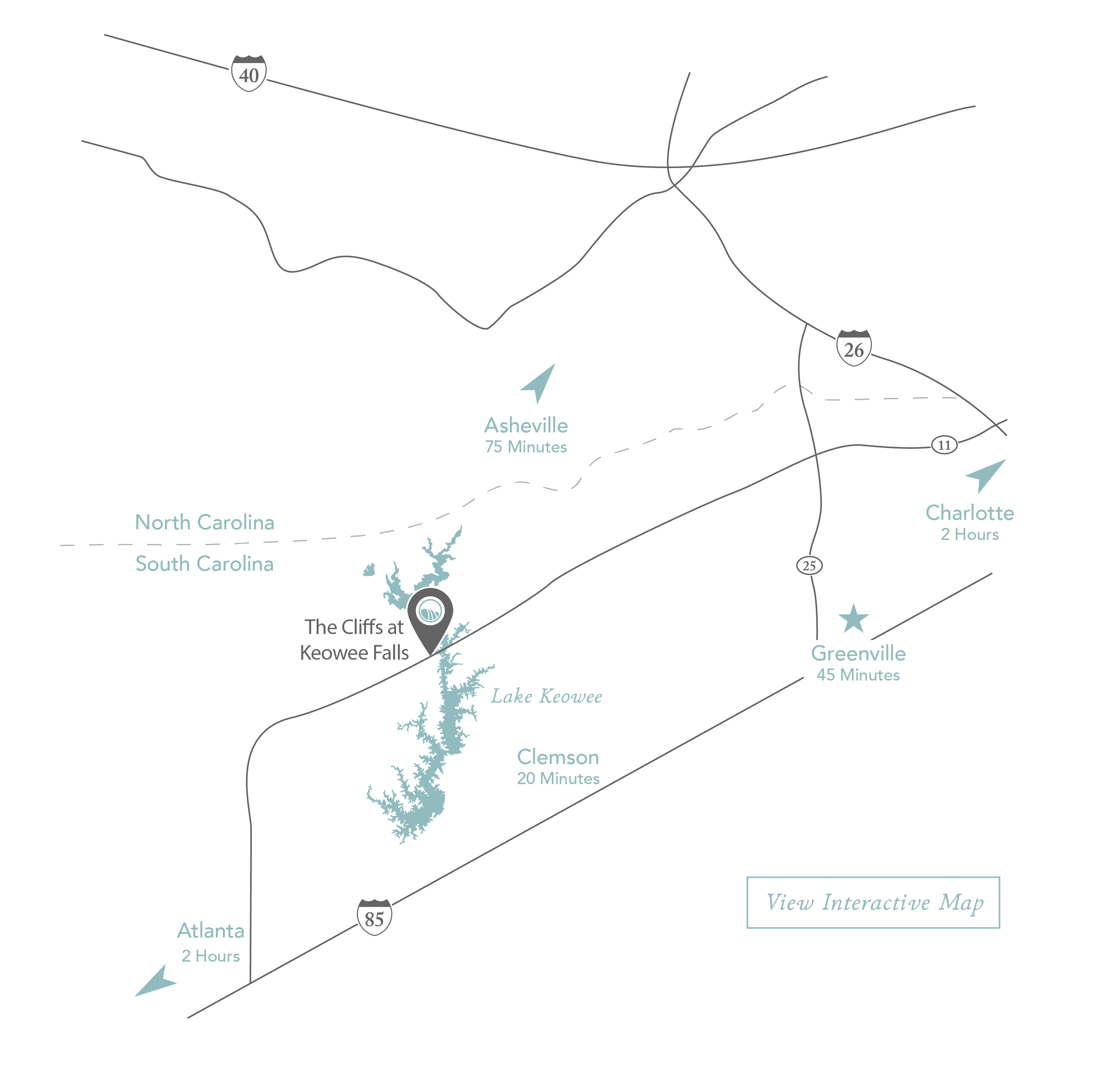 The Cliffs at Keowee Falls Community Map