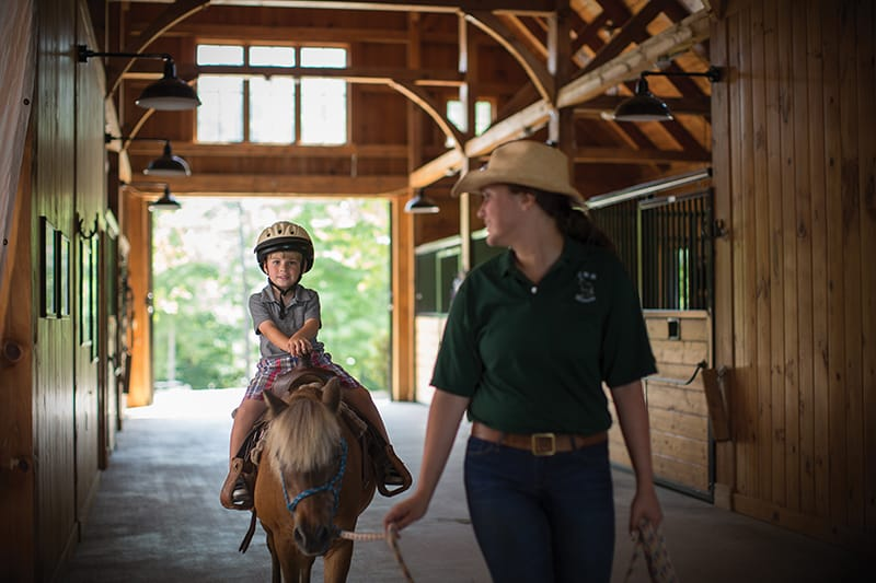 Youth horseback riding
