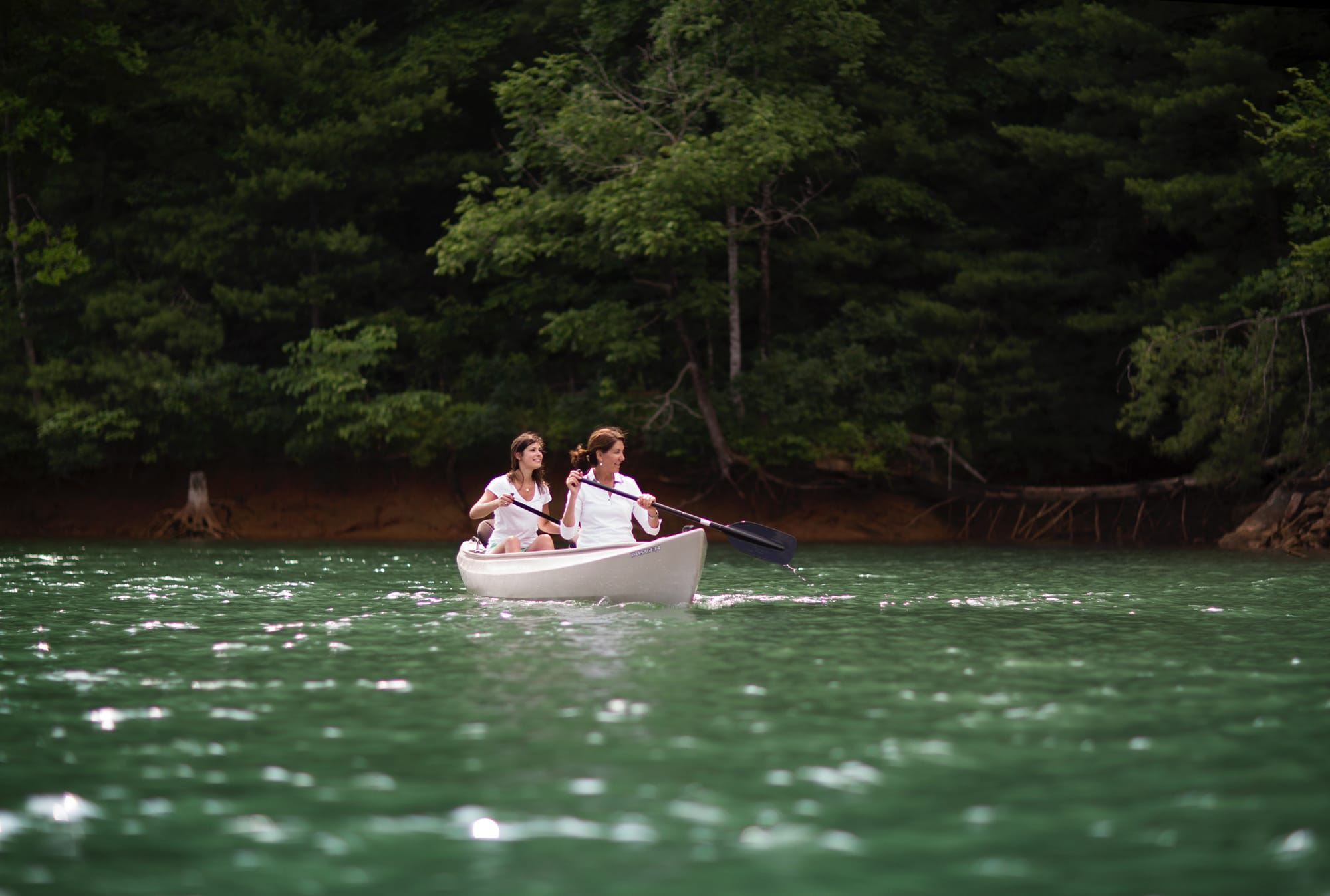 Canoeing on Lake Keowee