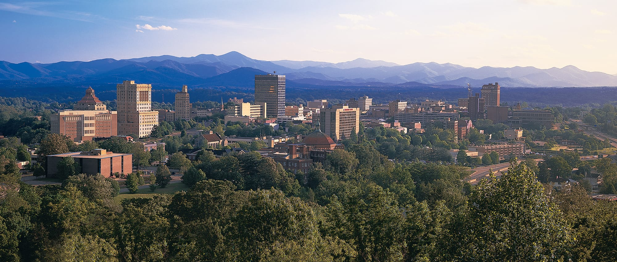 The Asheville skyline