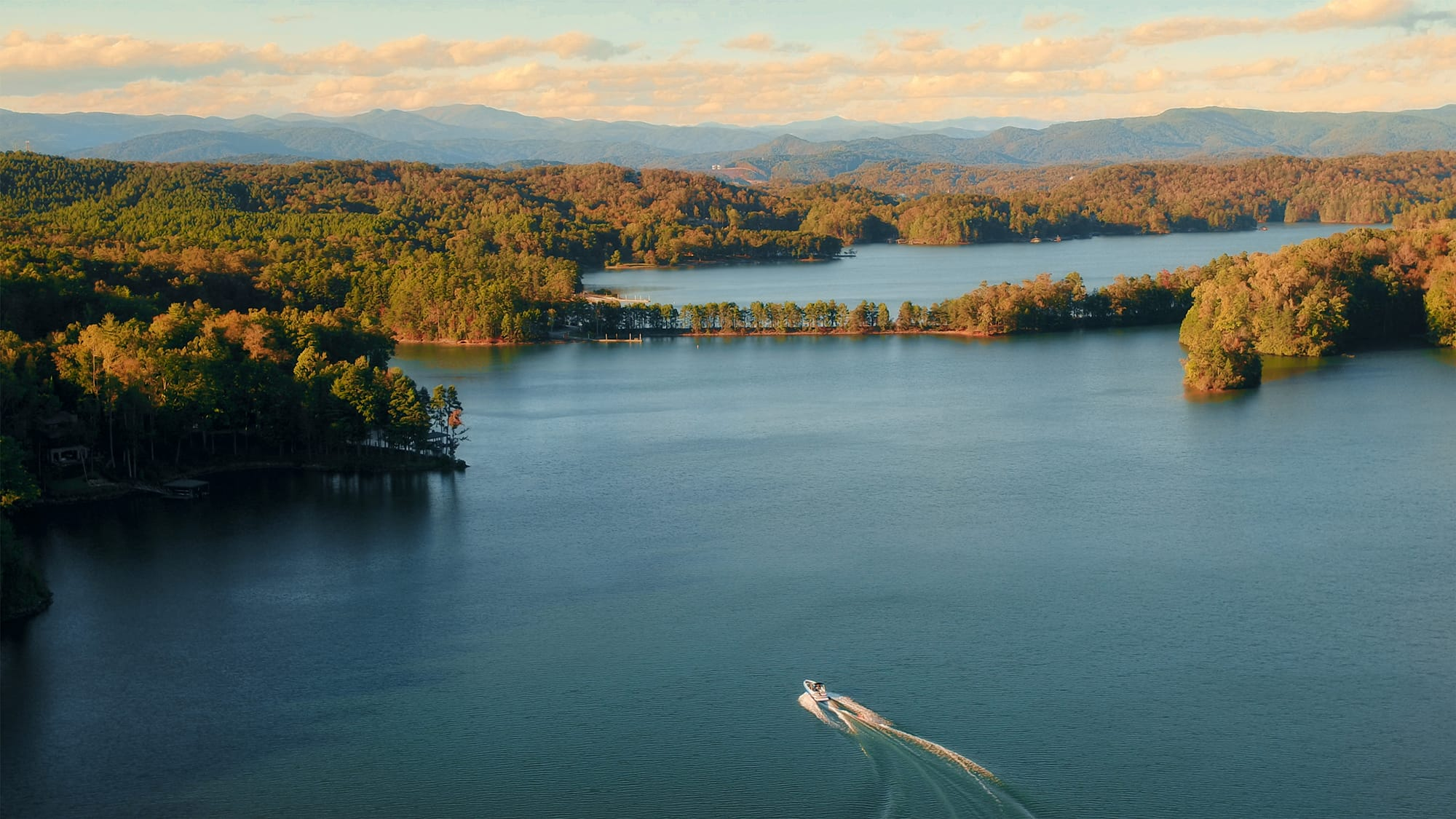 Aerial view of Lake Keowee