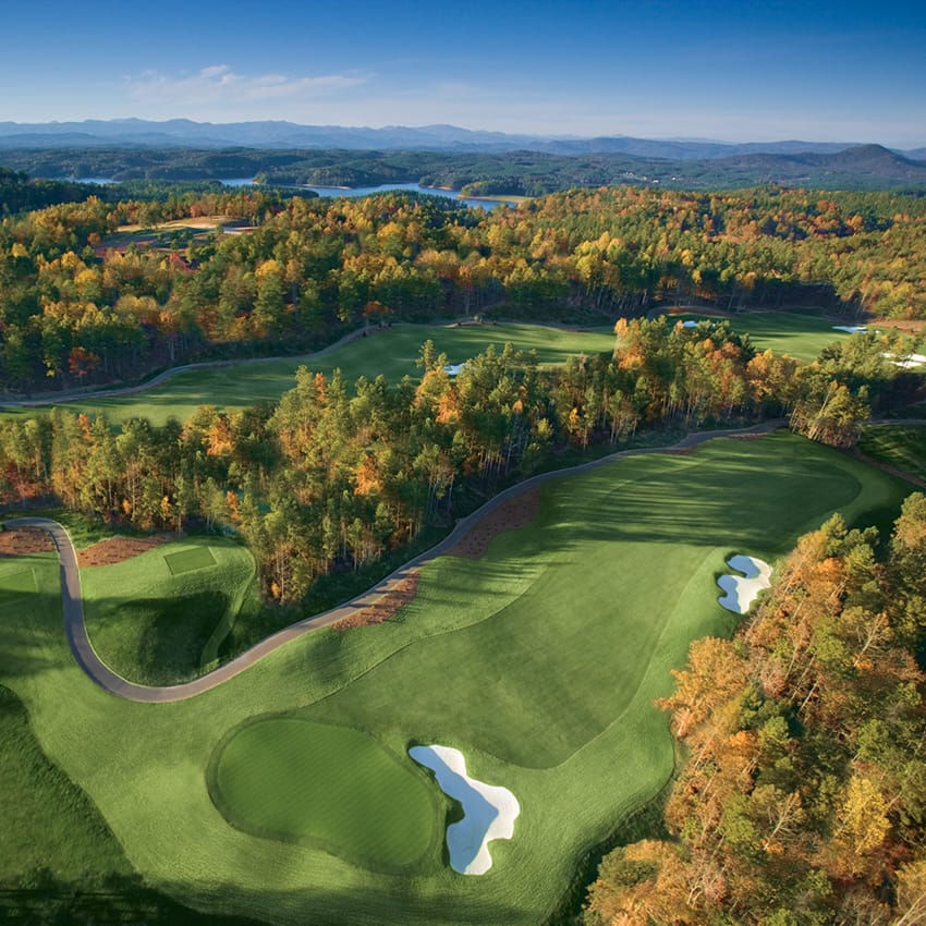 Aerial view of The Cliffs at Keowee Springs