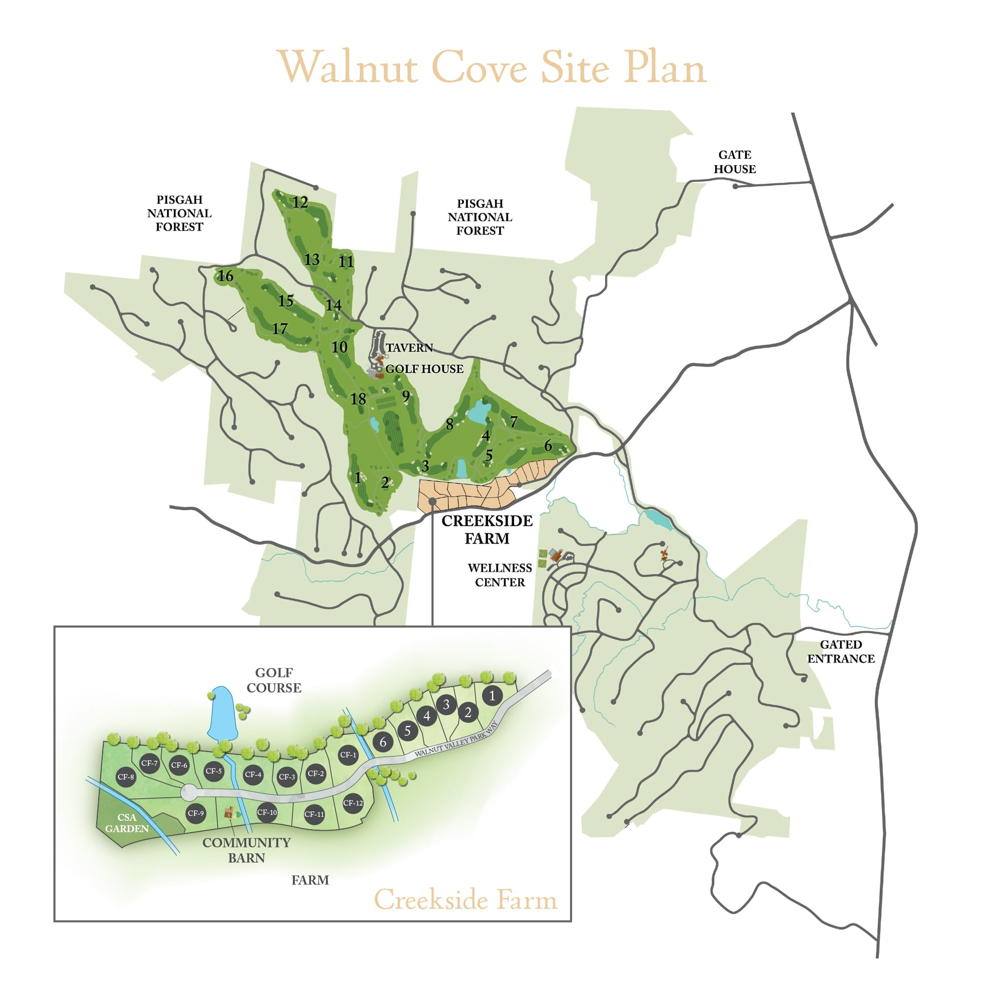 The Walnut Cove Site Plan