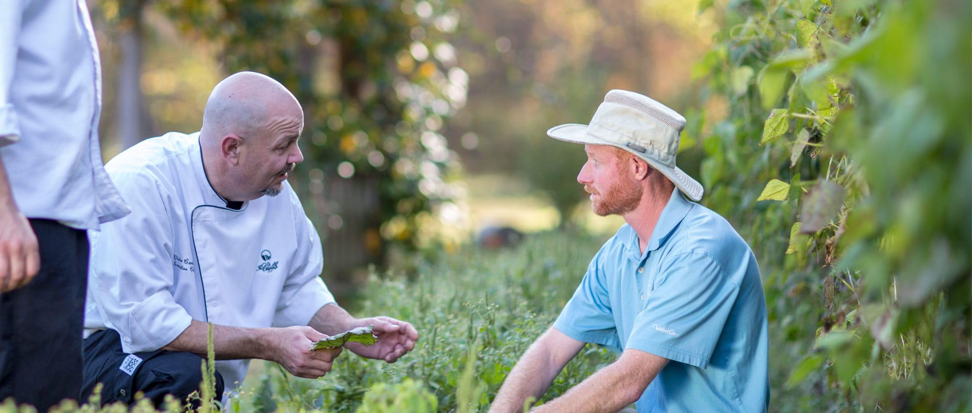 Executive Chef Victor Carducci and Craig Weiner, farmer of Broken Oaks Organic Farms