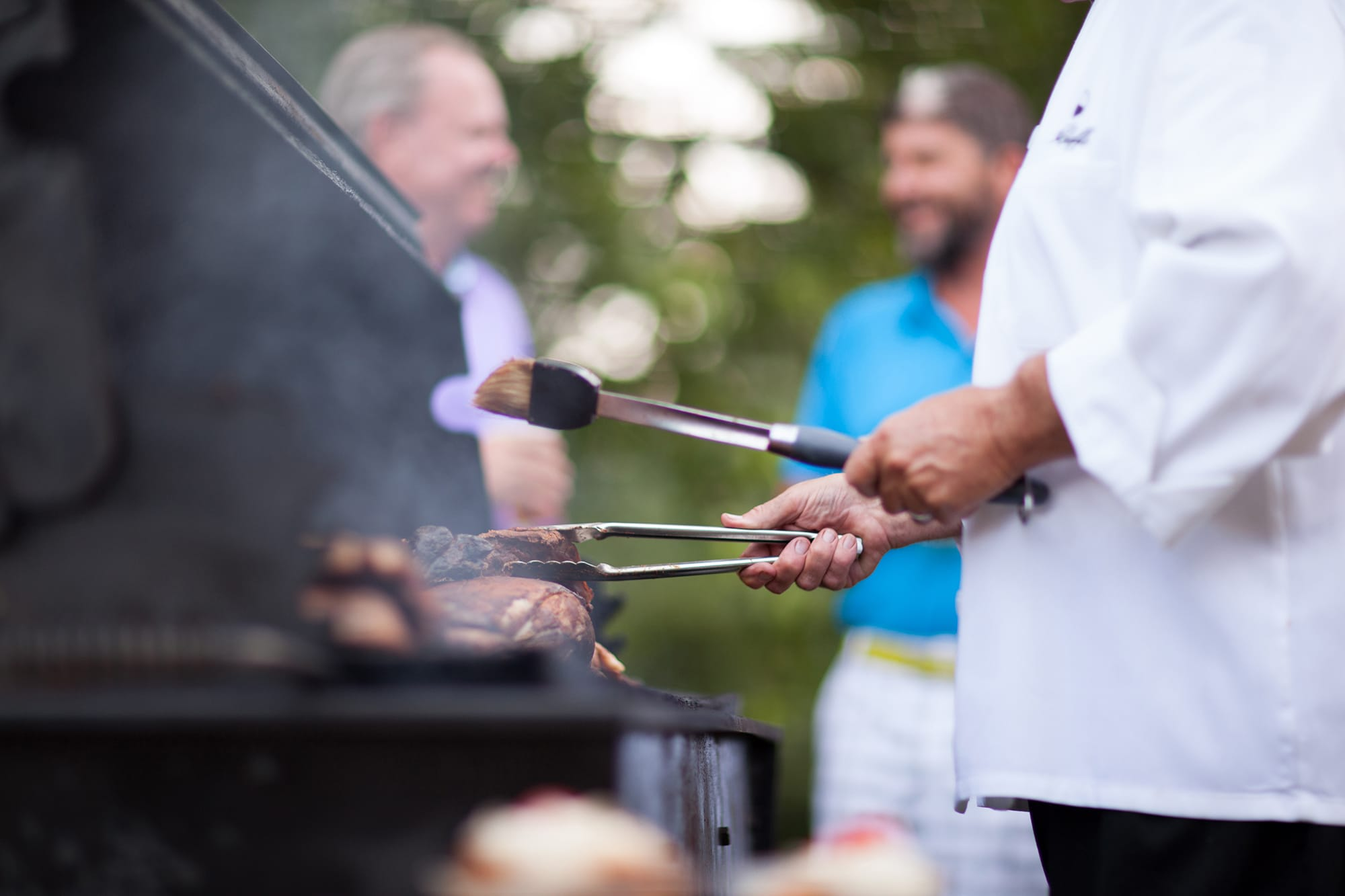 Chef mastering the grill