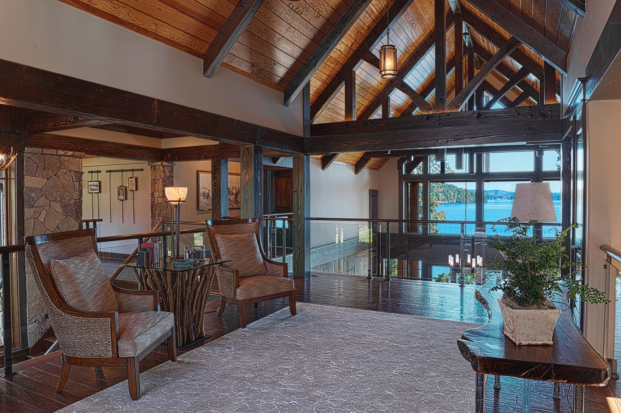 The foyer of a home at The Cliffs