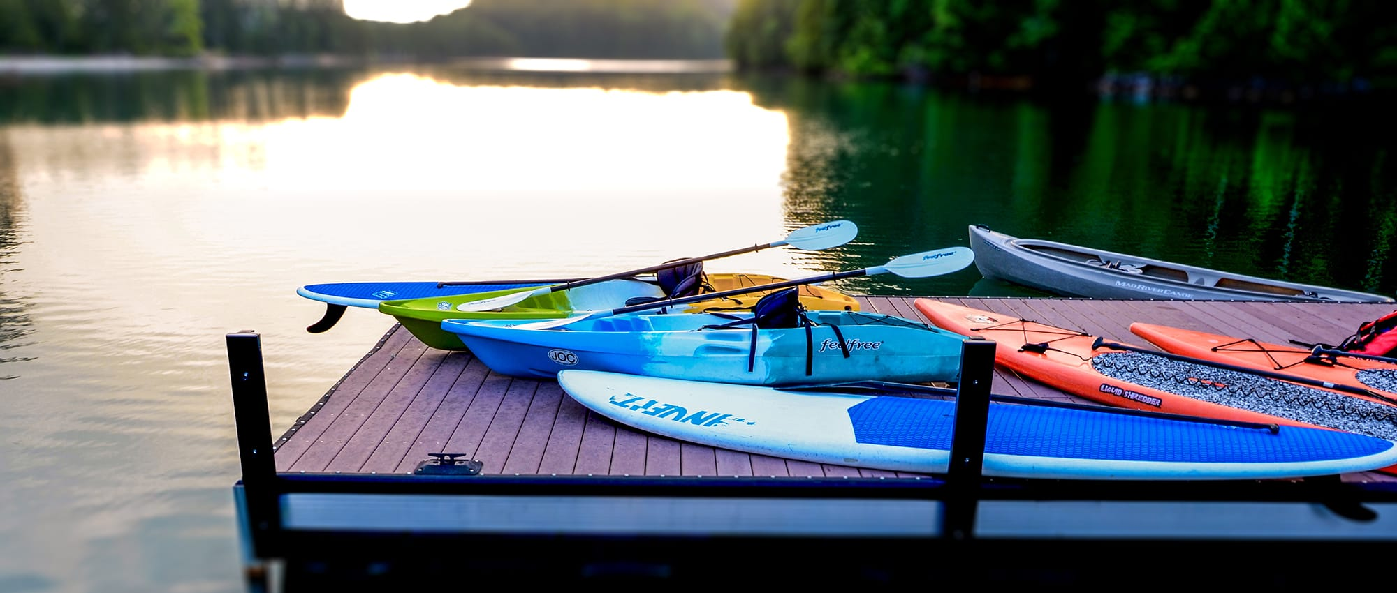 Paddle boards on Lake Keowee