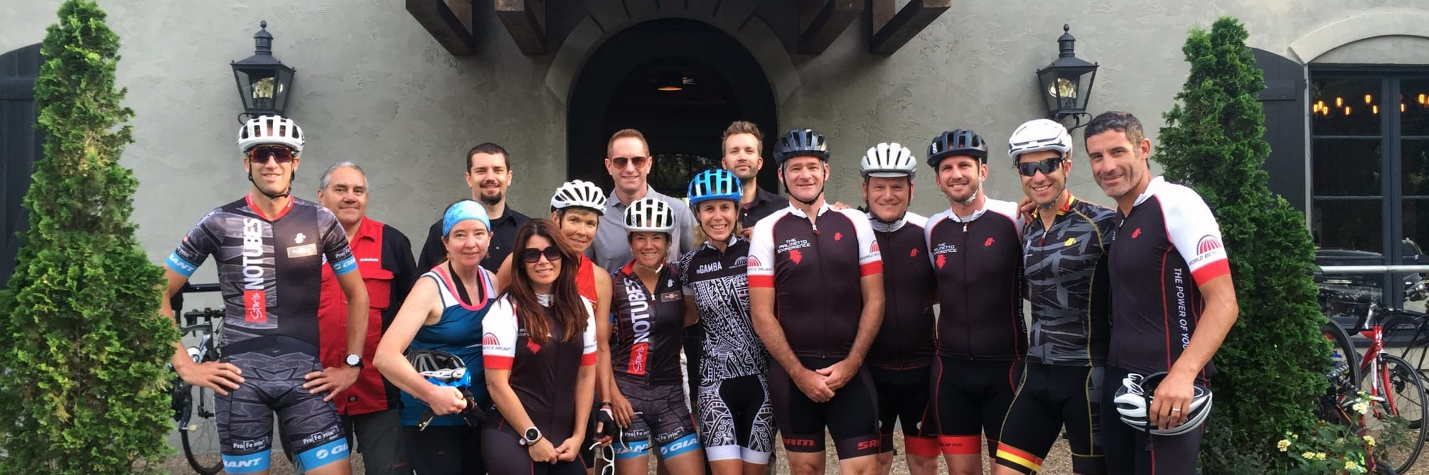 The Cliffs Partners World Bicycling Relief Ridges group photograph