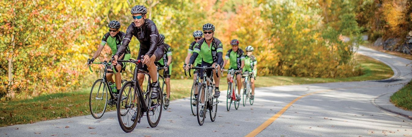 George Hincapie group ride for The Cliffs Members