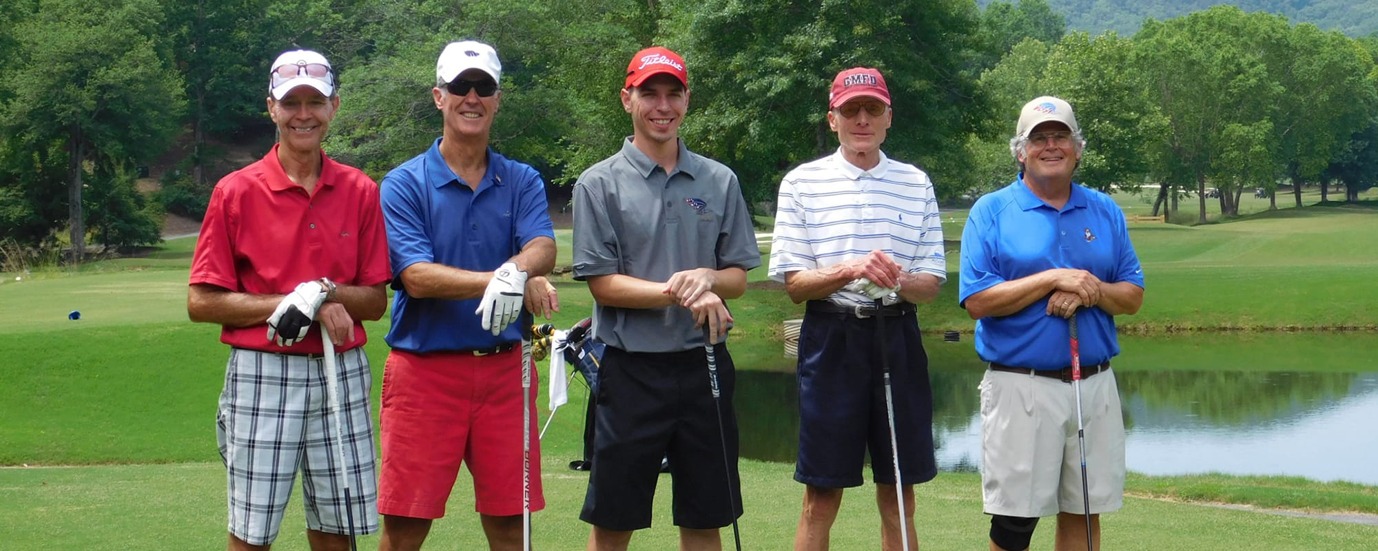 Another supportive group of golfers