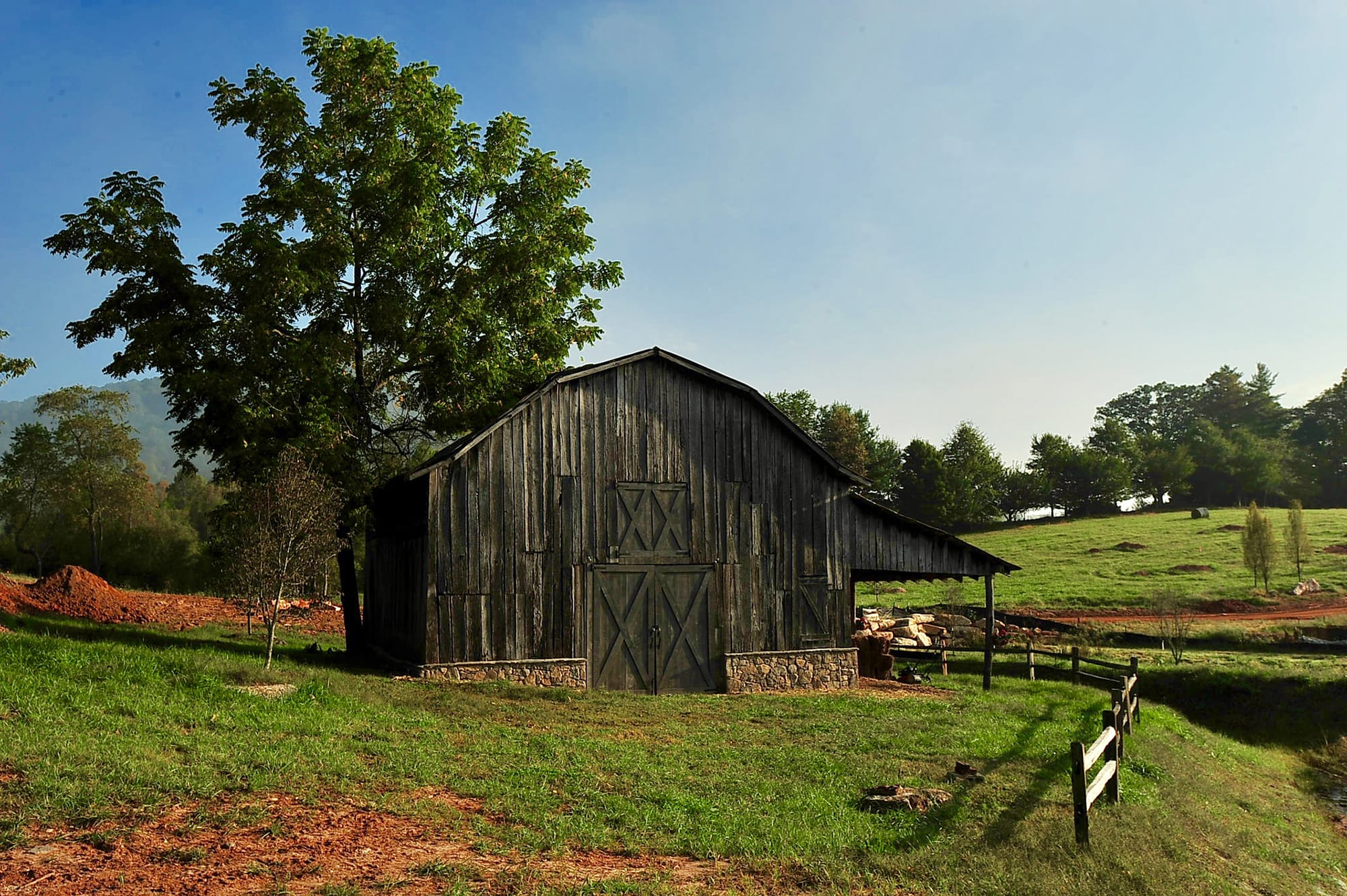 Century old barn at Creekside Farm