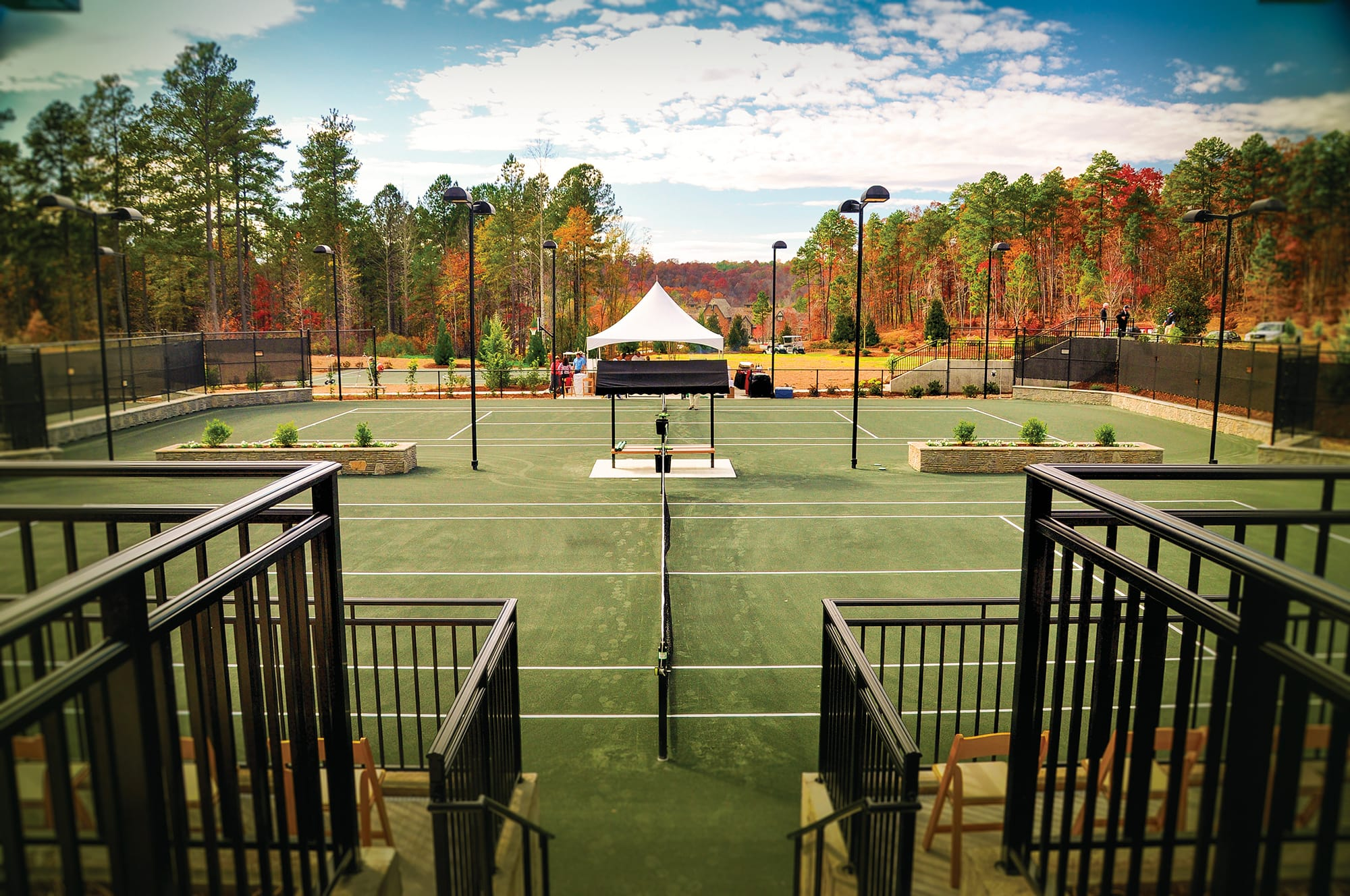 Tennis courts at Keowee Falls