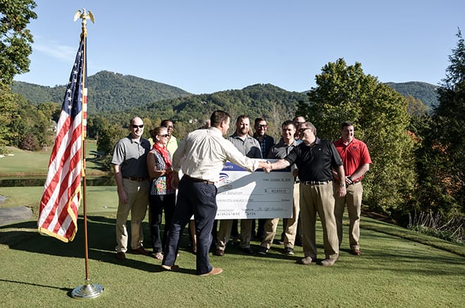 The Cliffs Presents Check to Upstate Warrior Solutions
