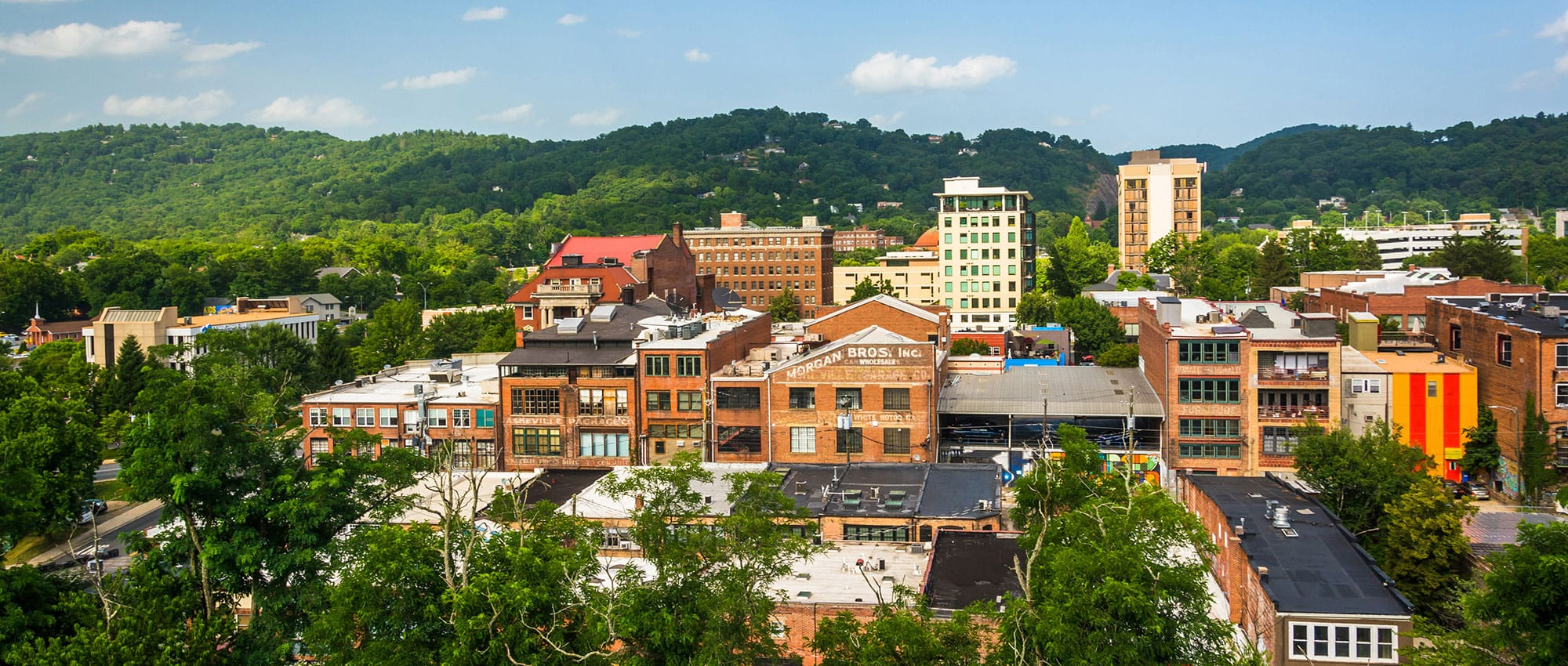 Overview of Asheville, NC