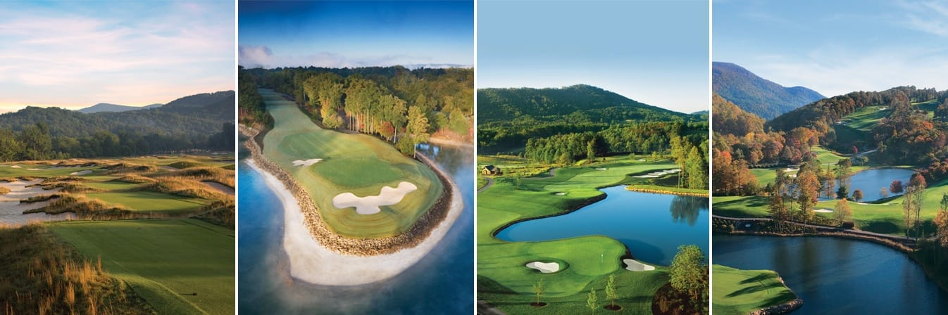Collage of The Cliffs golf courses