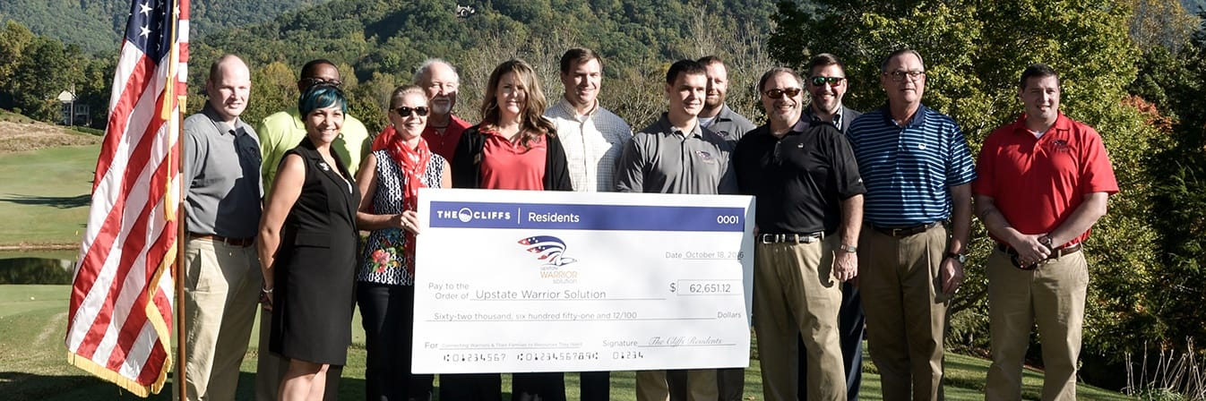 Check presentation to Upstate Warrior Solution