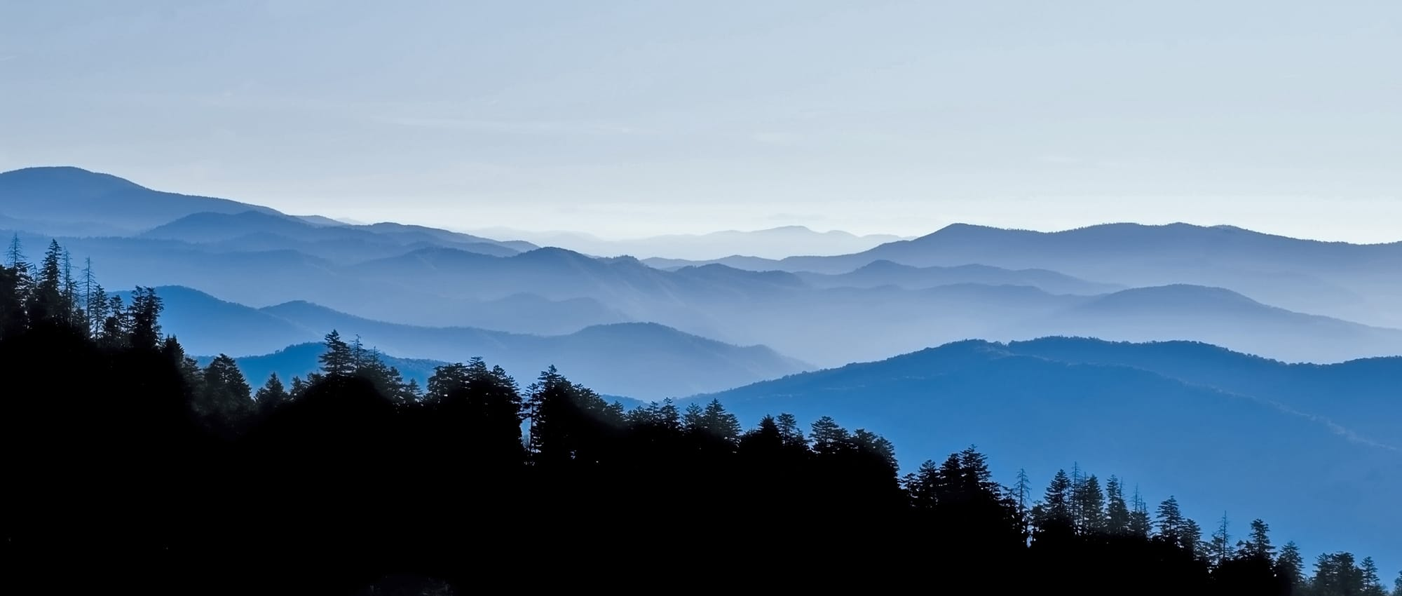 Panoramic View from Clingmans Dome, Great Smoky Mountains National Park, Tenessee