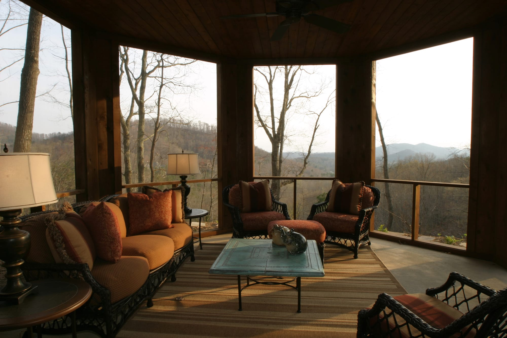 Bergeron Custom Homes porch view at The Cliffs