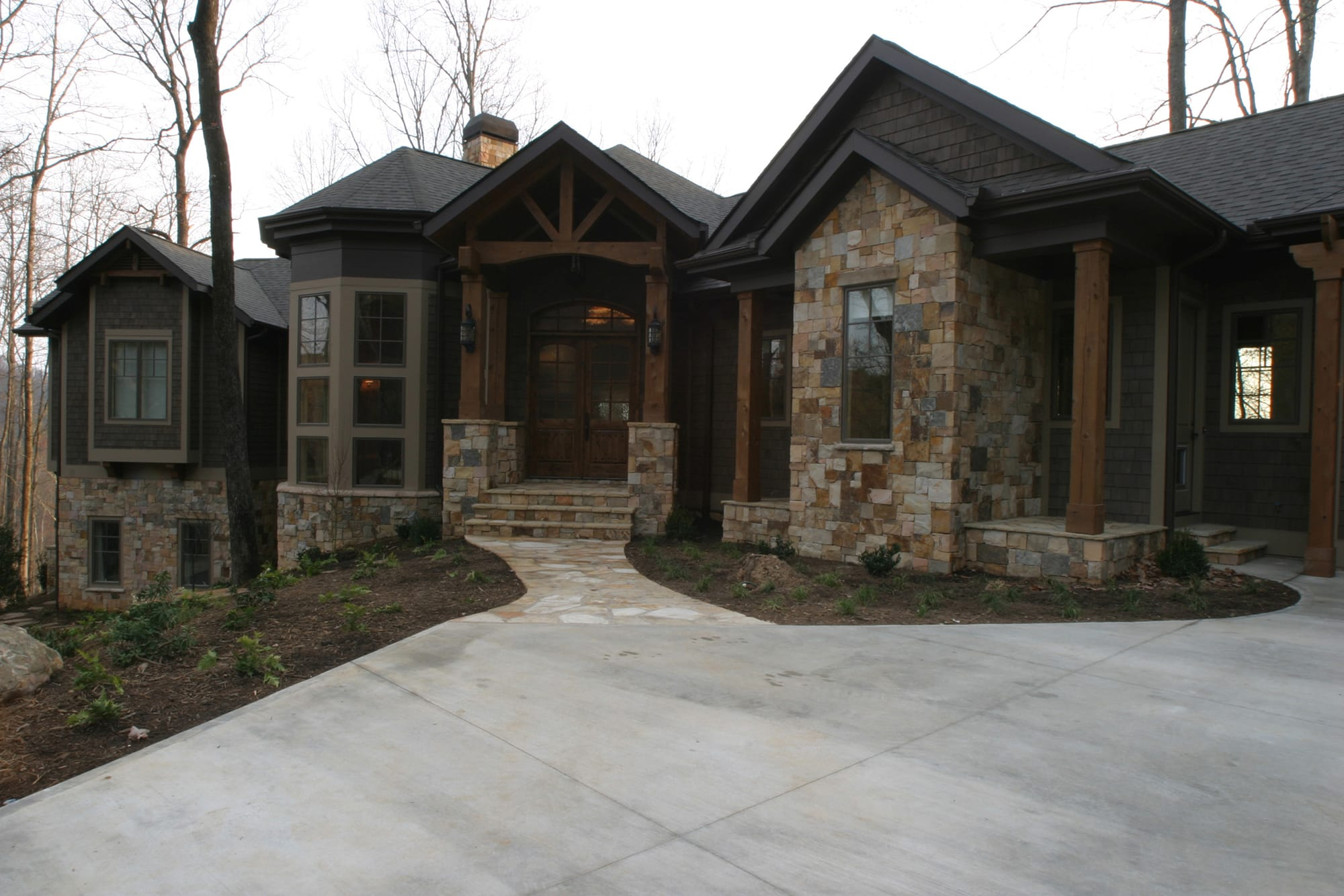 Bergeron Custom Homes exterior at The Cliffs