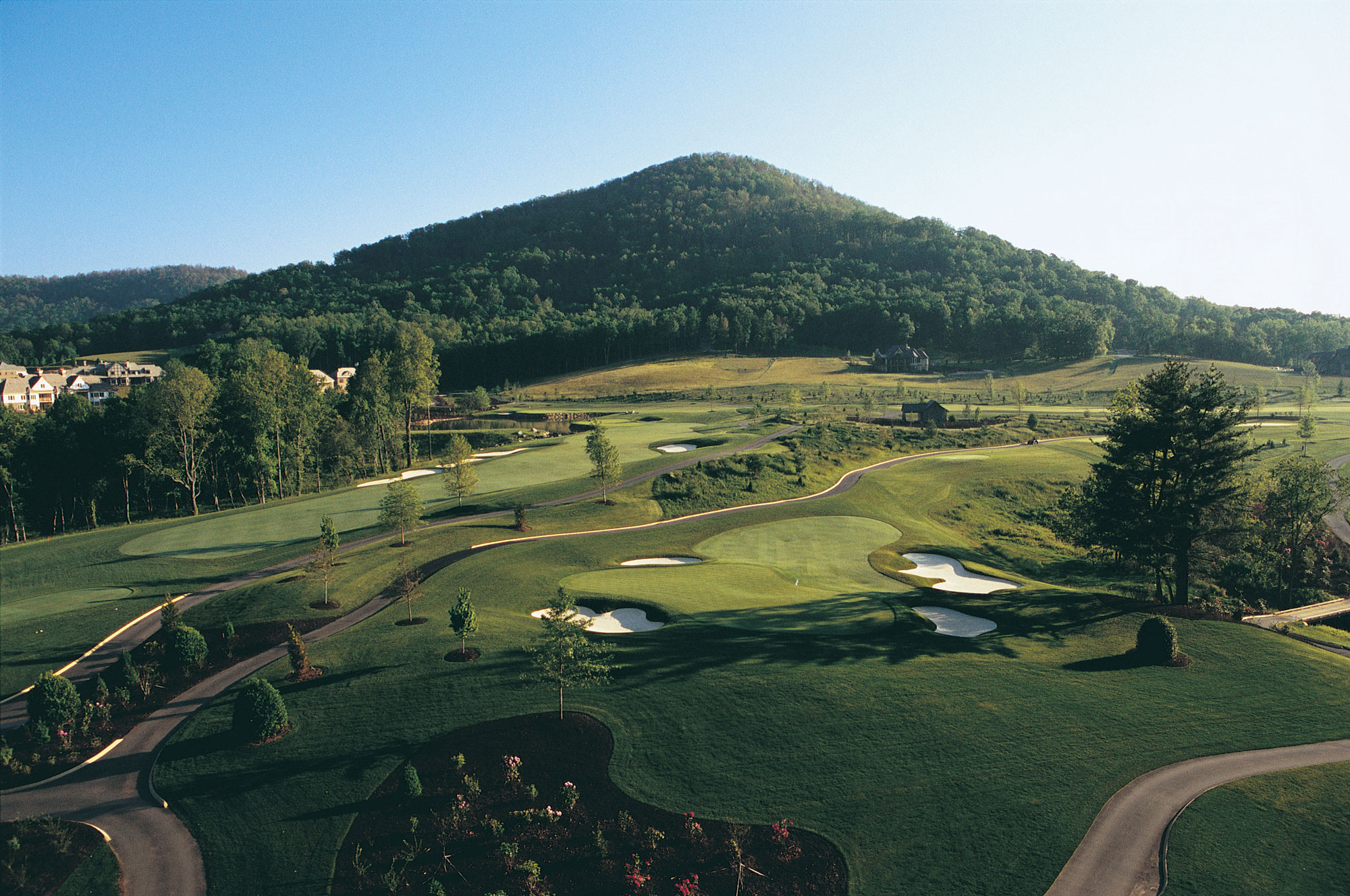 Walnut Cove Golf Aerial Mountain View