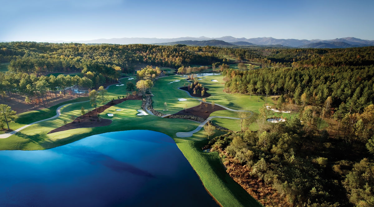The Cliffs at Keowee Falls Aerial Photo of Golf Course
