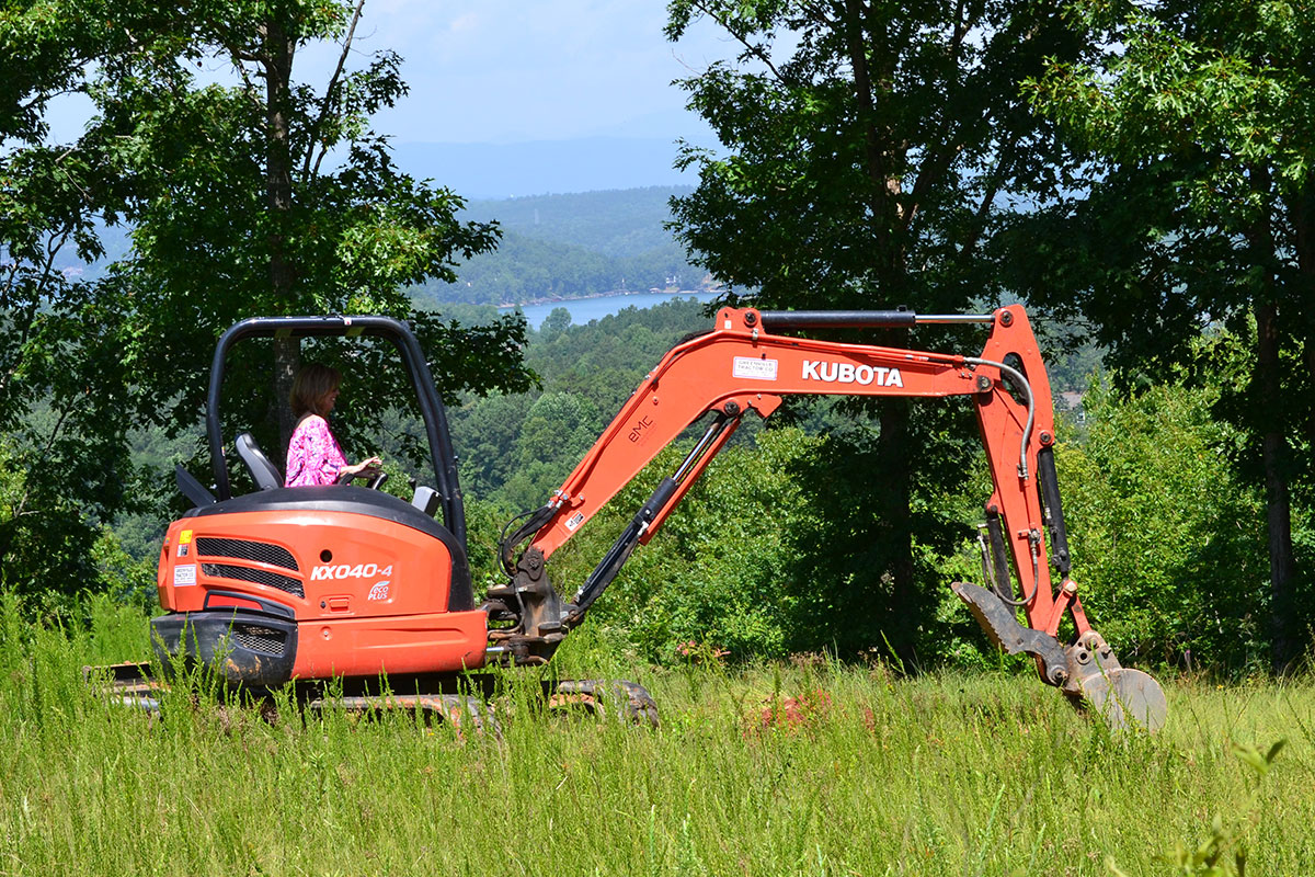 Alair breaking ground on Harrerr property.